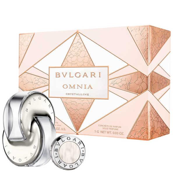 Conjunto Omnia Crystalline Bvlgari Feminino - Eau de Toilette 65ml + Perfume Sólido 1g