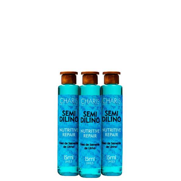 Charis Semidilino Nutritive Hair - Ampola de Tratamento 3x15ml