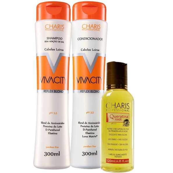 Charis Vivacity Queratina Hair Kit (3 Produtos)