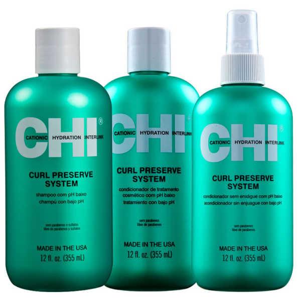 CHI Curl Preserve System Trio Kit (3 Produtos)