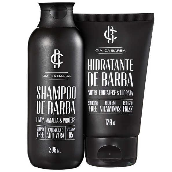 Cia da Barba Shampoo e Hidratante de Barba Kit (2 Produtos)