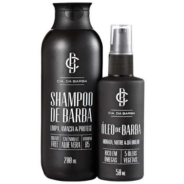 Kit Barba Cia da Barba - Shampoo 200ml + Óleo 50ml