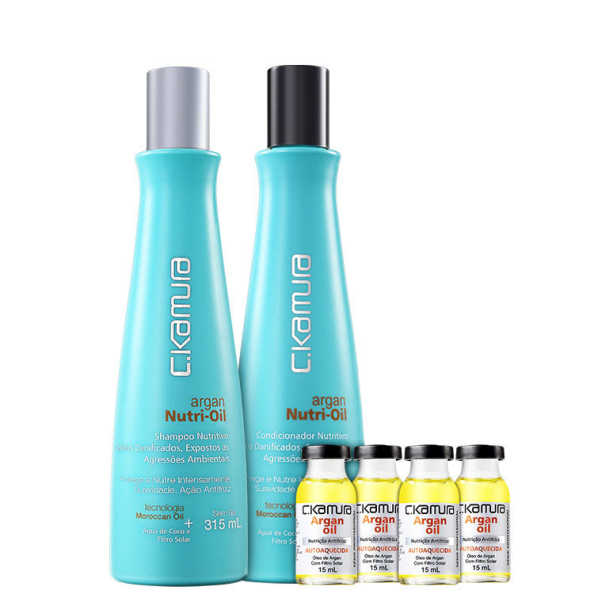 C.Kamura Argan Nutri-Oil Antifrizz Kit (3 Produtos)
