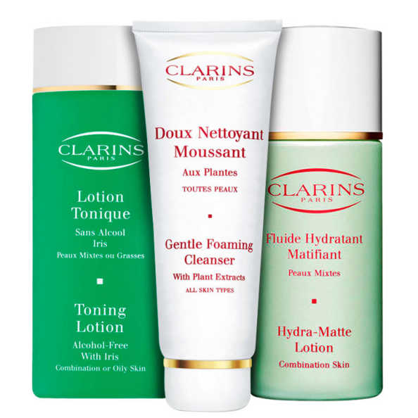 Clarins Aux Plantes Tonique Hidra-Matte Kit (3 Produtos)