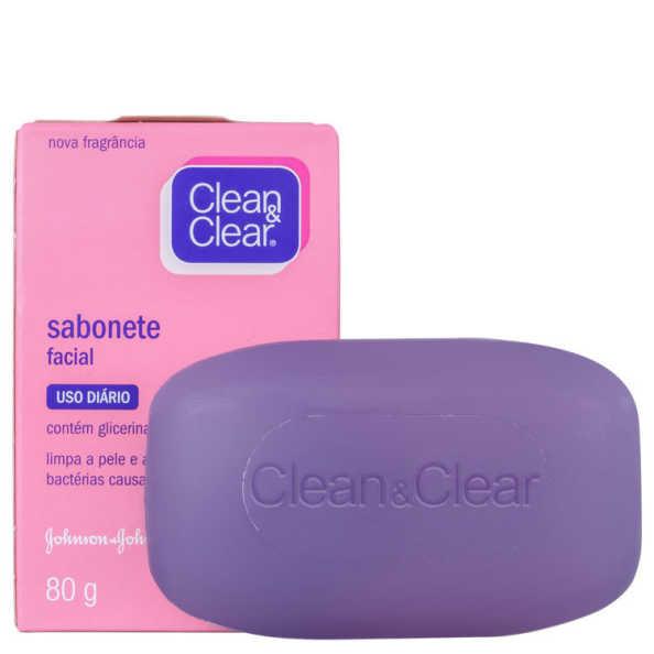 Clean & Clear Sabonete Facial Uso Diário - Sabonete em Barra 80g