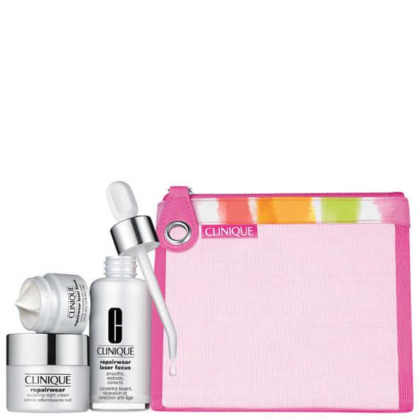 Clinique Repairwear Laser Focus Kit (3 Produtos + Nécessaire)