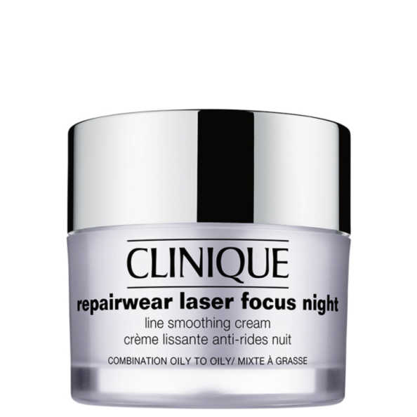 Clinique Repairwear Laser Focus Night Line Smoothing Cream 3 e 4 (pele oleosa)  - Creme Noturno 50ml