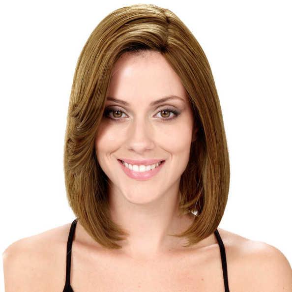 Crown Wigs Bianca Cor Louro Claro/Escuro - Peruca 30cm