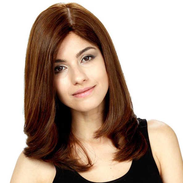Crown Wigs Diana Cor Castanho Claro - Peruca 45cm