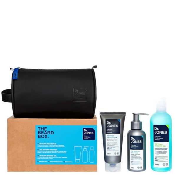 Dr. Jones The Beard Box Kit (3 Produtos + Nécessaire)