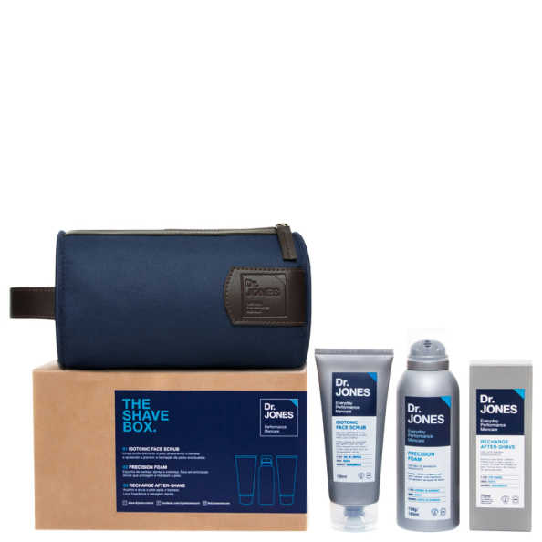 Dr. Jones The Shave Box Kit (3 Produtos + Nécessaire)