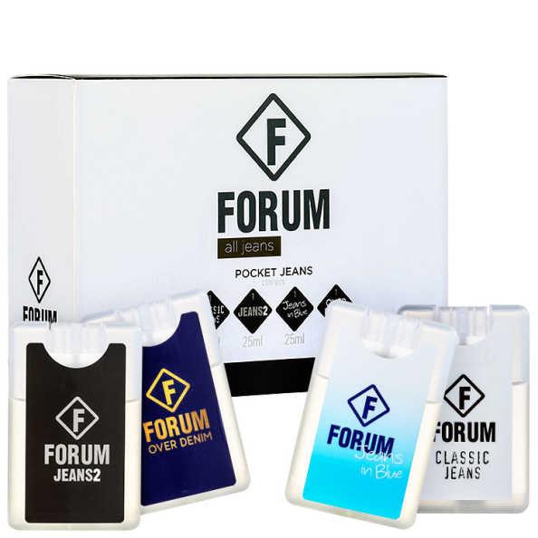 Conjunto All Jeans Pocket Forum Unissex - Deo Colônia 4x25ml