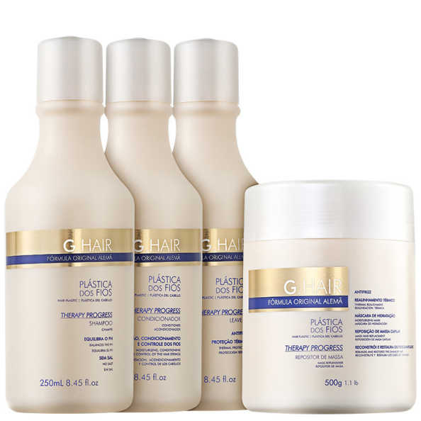 G. Hair Therapy Progress Antifrizz Repositor de Massa Kit (4 Produtos)