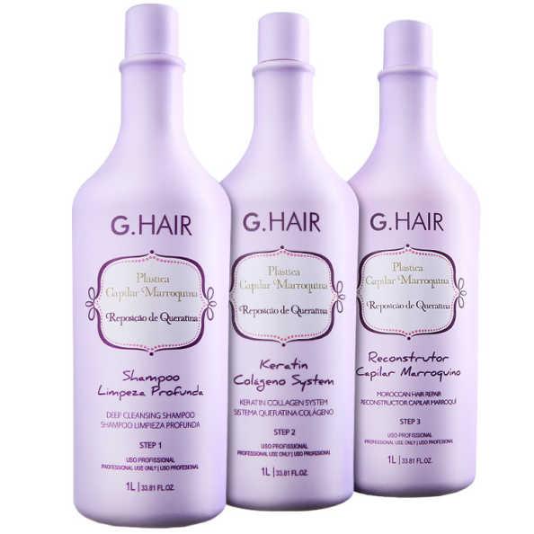 G.Hair Plástica Capilar Marroquina Kit (3 Produtos)