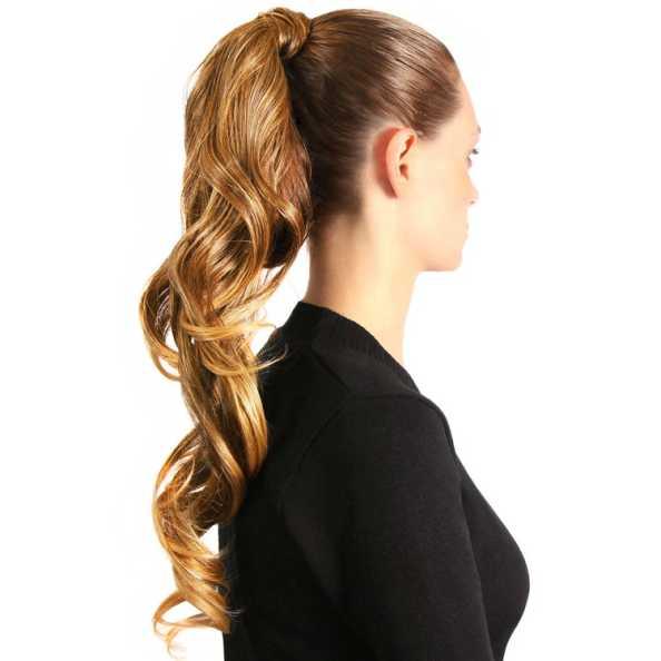 Hairdo Rabo de Cavalo Ondulado - Louro Dourado Com Californianas 58Cm