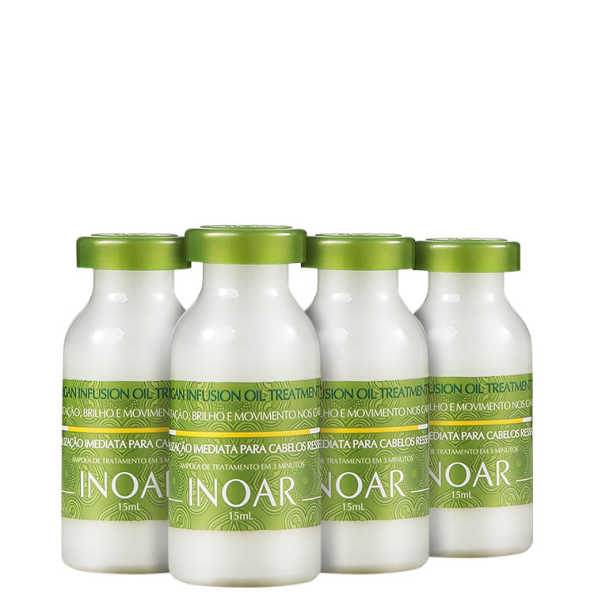 Inoar Argan Infusion Oil Treatment - Ampola de Tratamento 4x 15ml