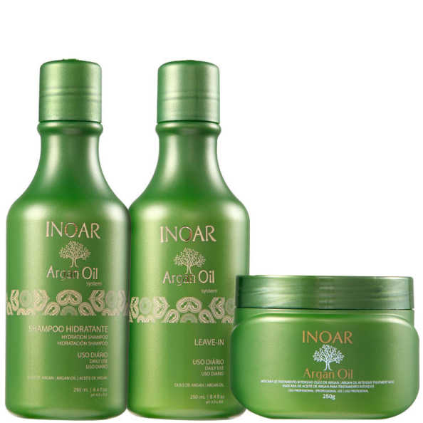 Inoar Argan Oil Hair Kit (3 Produtos)
