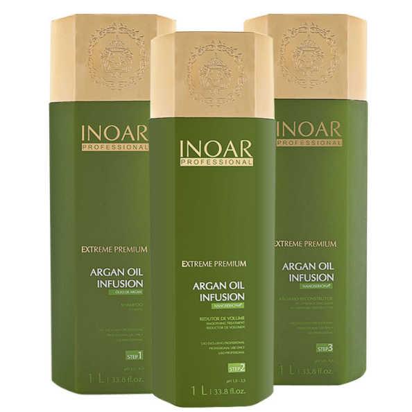 Inoar Extreme Premium Argan Oil Infusion Kit (3 Produtos)