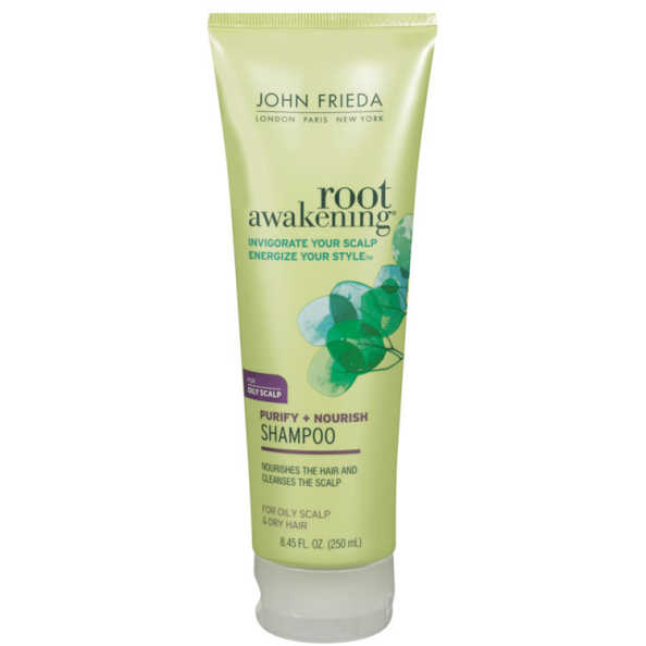 John Frieda Root Awakening Purify + Nourish Shampoo for Oily Scalp - Shampoo 250ml