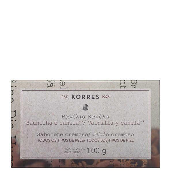 Korres Baunilha e Canela - Sabonete Cremoso em Barra 100g