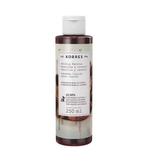 Korres Baunilha e Canela - Sabonete Líquido Hidratante 250ml