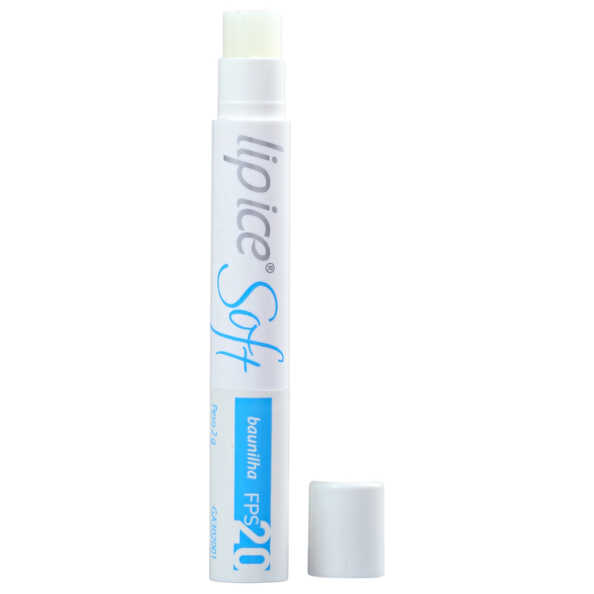 Lip Ice Soft Baunilha FPS 20 - Protetor Labial 2g