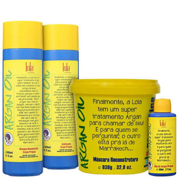 Lola Cosmetics Argan Oil Full Kit (4 Produtos)