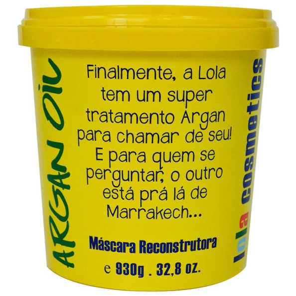 Lola Cosmetics Argan Oil - Máscara Reconstrutora 930g