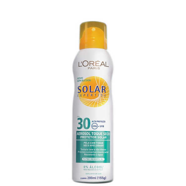 L'Oréal Paris Solar Expertise Toque Seco FPS 30 - Protetor Solar em Spray 200ml