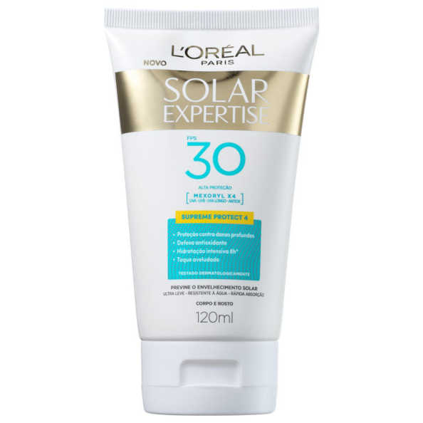 L'Oréal Paris Solar Expertise Supreme Protect 4 FPS 30 - Protetor Solar 120ml