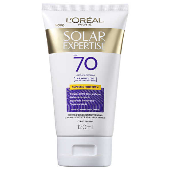 L'Oréal Paris Solar Expertise Supreme Protect 4 FPS 70 - Protetor Solar 120ml