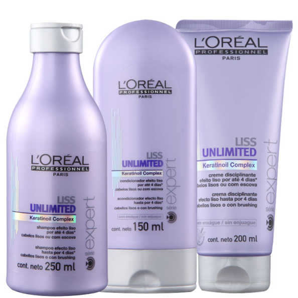 L'Oréal Professionnel Liss Unlimited Discipline Kit (3 Produtos)