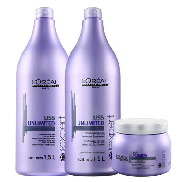 L'Oréal Professionnel Liss Unlimited Salon Treatment Kit (3 Produtos)