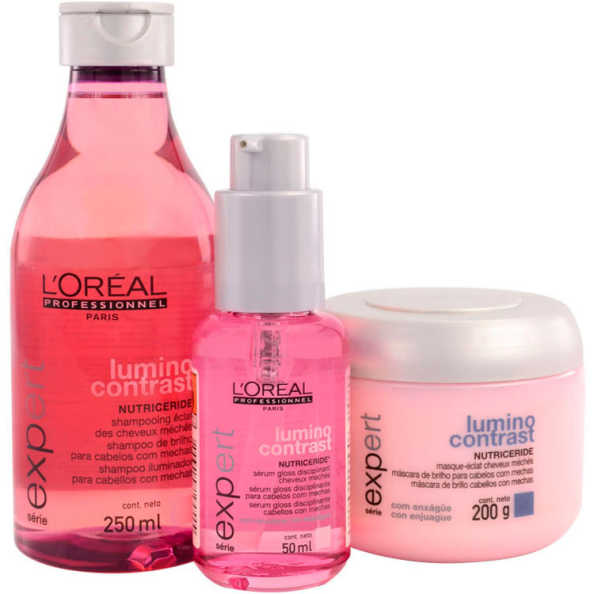 L'Oréal Professionnel Lumino Contrast Escova de Brilho Kit (3 Produtos)