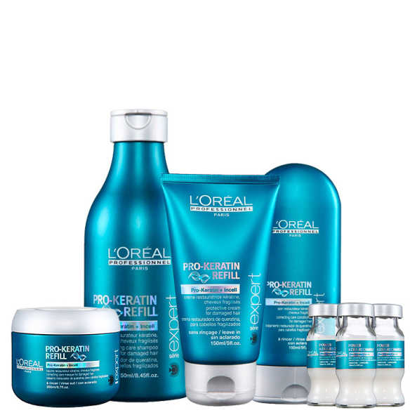 L'Oréal Professionnel Pro-Keratin Refill Power Treatment Kit (5 Produtos)
