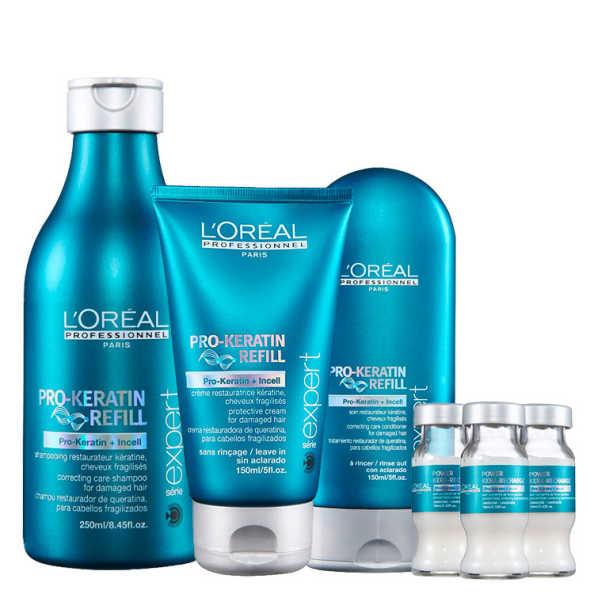 L'Oréal Professionnel Pro-Keratin Refill Restoration Kit (4 Produtos)