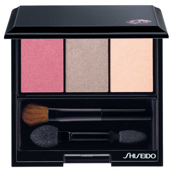 Shiseido Luminizing Satin Eye Color Trio Rd711 - Pink/grey/Nude