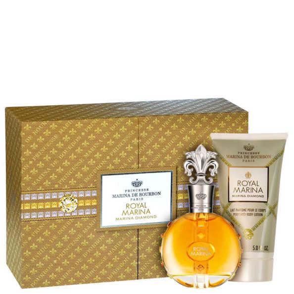 Conjunto Royal Marina Diamond Marina de Bourbon Feminino - Eau de Parfum 100ml + Loção 150ml