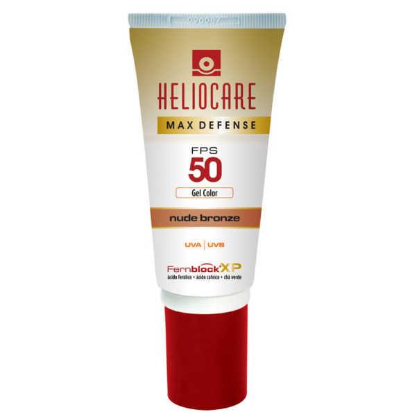 Melora Heliocare Max Defense Gel Color Nude Bronze FPS 50 - Protetor Solar com Cor em Gel 50g
