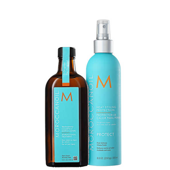 Moroccanoil Treatment Heat Styling Kit (2 Produtos)