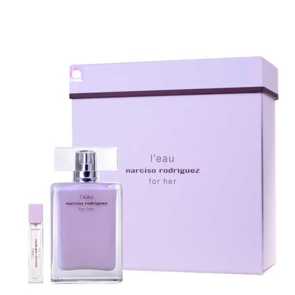 Conjunto L'Eau For Her Narciso Rodriguez Feminino - Eau de Toilette 50 ml + Miniatura 10ml
