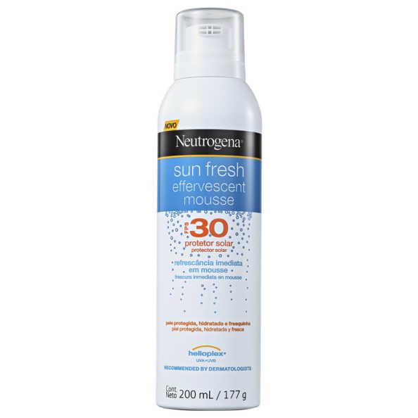 Neutrogena Sun Fresh Effervescent FPS 30 - Protetor Solar em Mousse 200ml