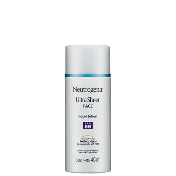 Neutrogena Ultra Sheer Liquid Lotion - Protetor Solar Facial FPS 55 45ml