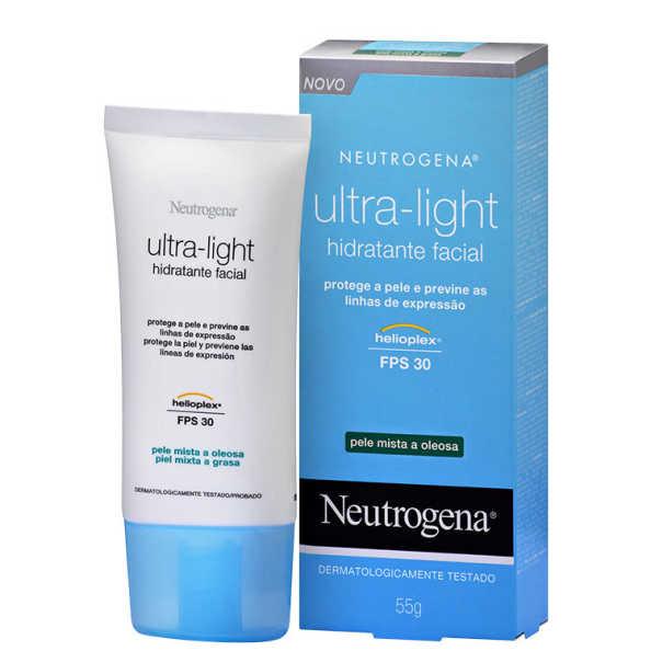 Neutrogena Ultra-Light - Hidratante Facial Diurno FPS 30 55g (pele mista a oleosa)