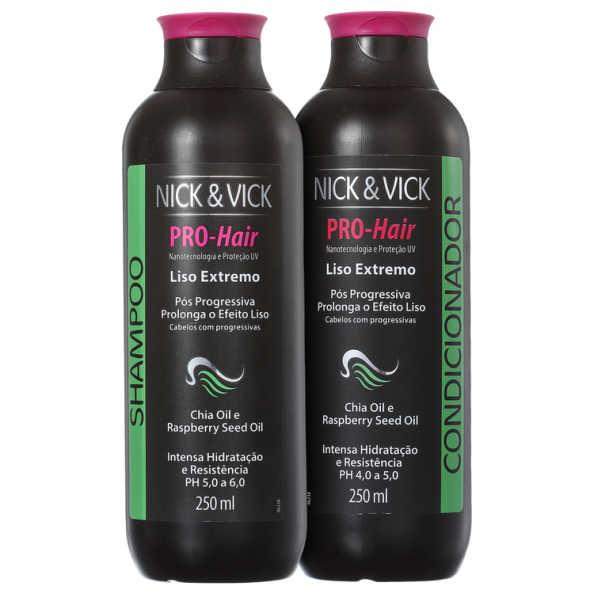 Nick & Vick PRO-Hair Liso Extremo Kit (2 Produtos)