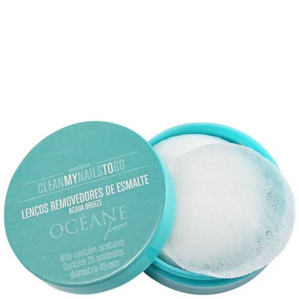 Océane Femme Clean My Nails To Go Acqua Breeze - Lenço Removedor de Esmalte 25un (Cartela)