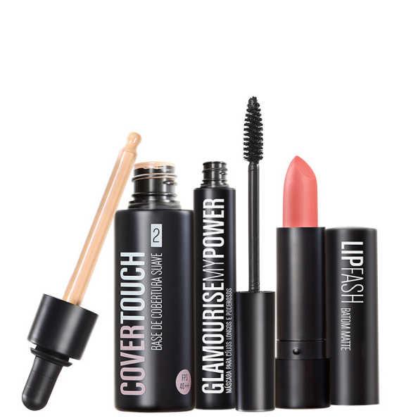 Océane Femme Cover Touch 2 Glamourise Lip Fash Gorgeous Nut Kit (3 Produtos)