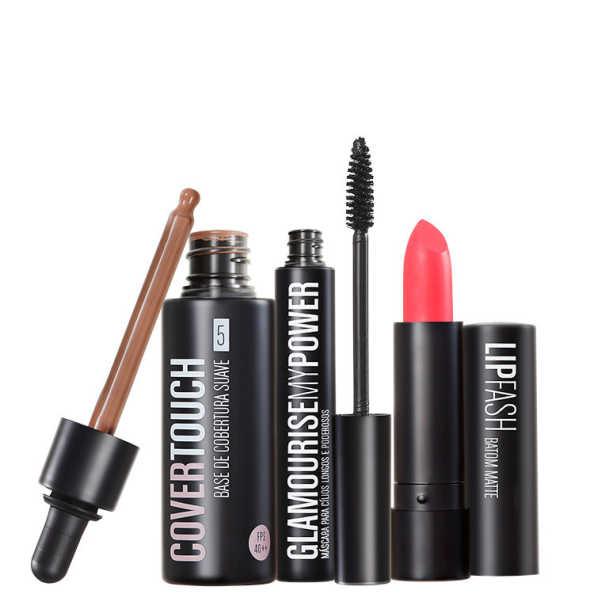 Kit Océane Femme Cover Touch 5 Glamourise Lip Fash Apocalips (3 produtos)