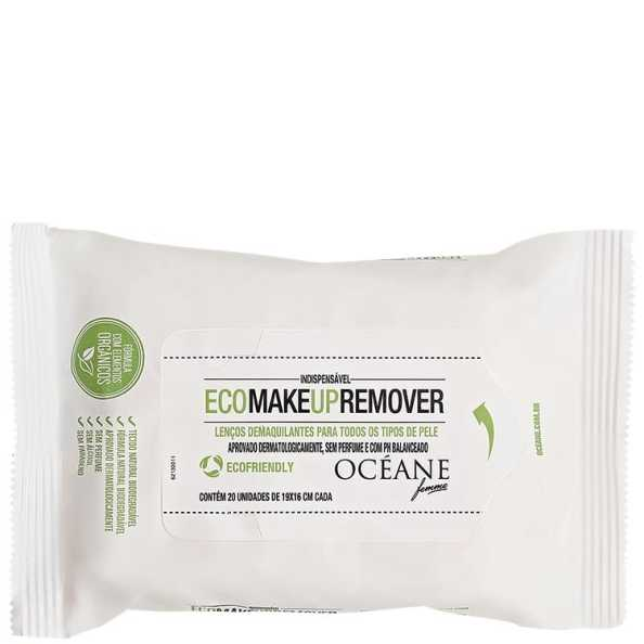 Océane Femme Eco Make Up Remover - Lenços Demaquilantes 20 un