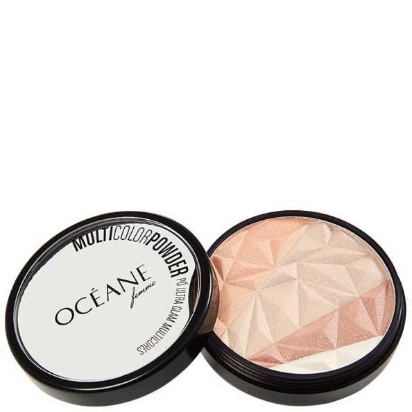 Océane Femme Multicolor Powder Ultra Glam - Pó Facial 3 em 1 9,5g